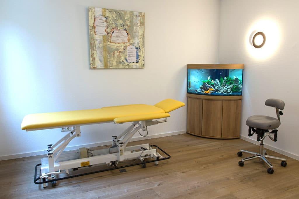 Behandlungsraum Osteopathie Hertenstein in Dielheim